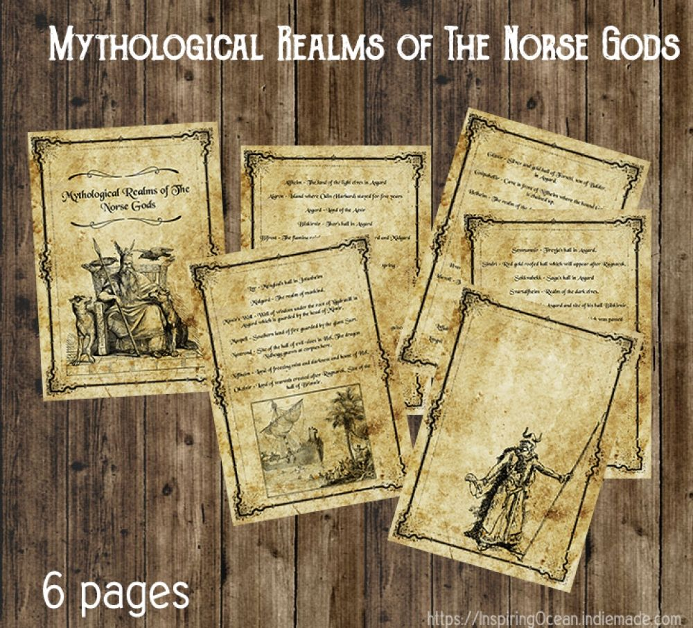 Book of Shadows pages Mythological Realms of The Norse