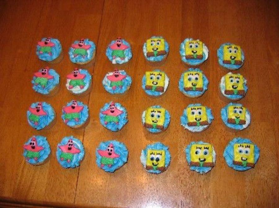 Spongebob And Patrick Cupcakes Spongebob Cupcakes Pinterest