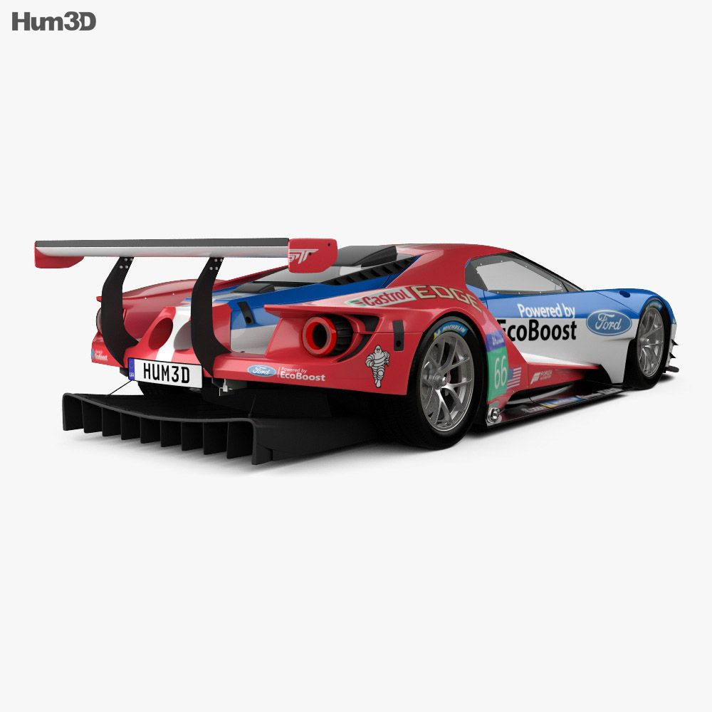3d Model Of Ford Gt Le Mans Race Car 2016 In 2020 Ford Gt Le Mans Ford Gt Le Mans