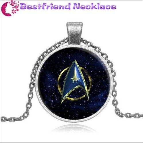 Star Trek Steampunk Moive Glass silver necklace for women men Jewelry #Handmade #glass