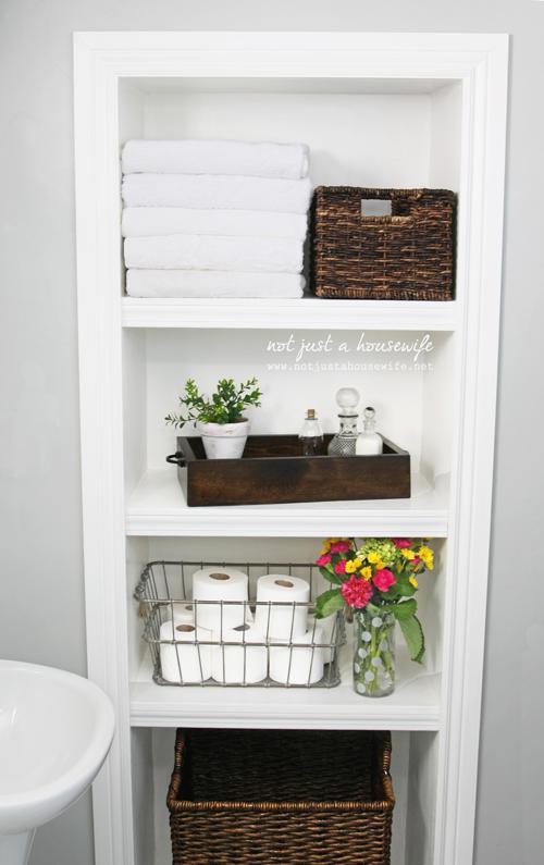 Recessed Bathroom Shelve Shelves Built In Storage Decorating