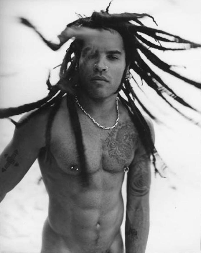 Lenny Kravitz- I saw him in concert looking like this, dreads a flying- yum!