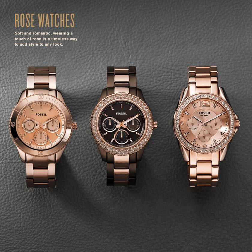 Rose Watches from Fossil LOVE LOVE LOVE THESE Watch me want