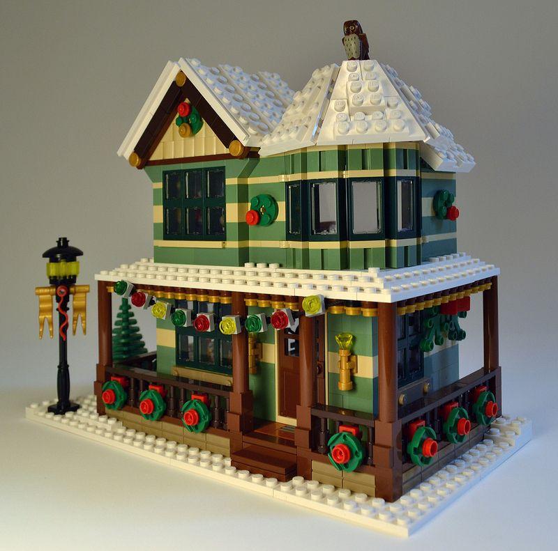Winter Village Jewelry Store Lego Winter Lego Gingerbread House Lego Design