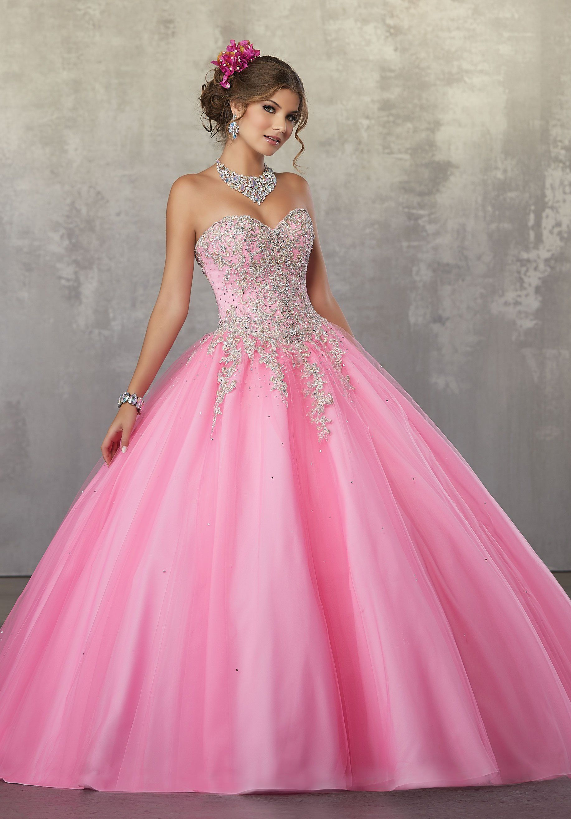 Strapless A-Line Quinceanera Dress by Mori Lee Valencia 60035 | 15 ...