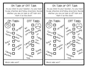 Behavior Charts On Task Appropriate Talking Behaviour Chart Student Behavior Chart Chart