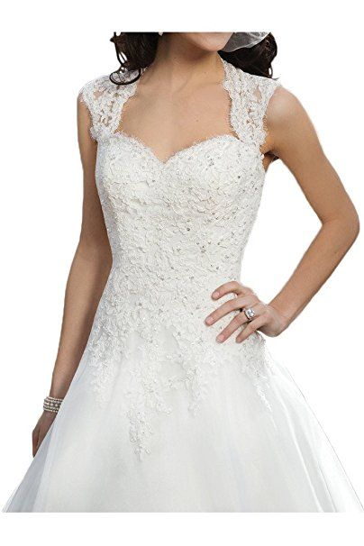 Milano Bride Vintage Damen Aermellos Herzform Hochzeitskleider ...