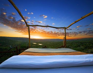 the Star Beds at Loisaba Wilderness in Kenya, a 61,000-acre private resort, you can watch