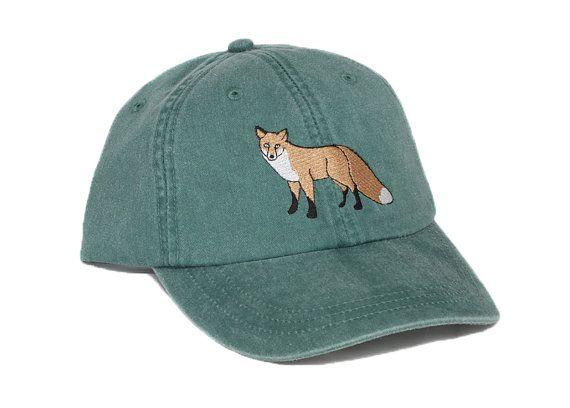 d28a3fec313904 ... fox embroidered hat baseball cap red fox cap fox hat dad hat mom cap  wildlife nature ...