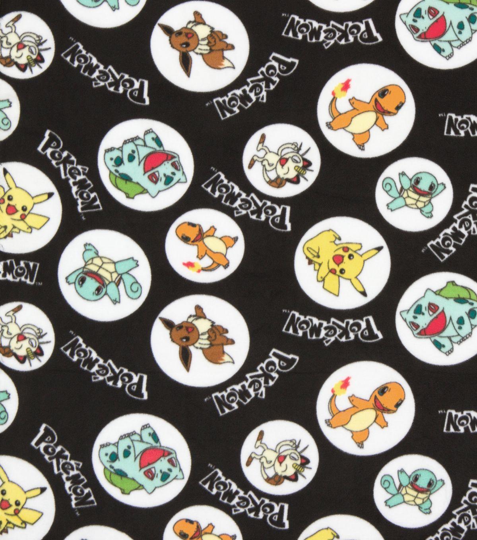 Pokemon Character Dot Fleece Fabric Jesse Pinterest Fabric