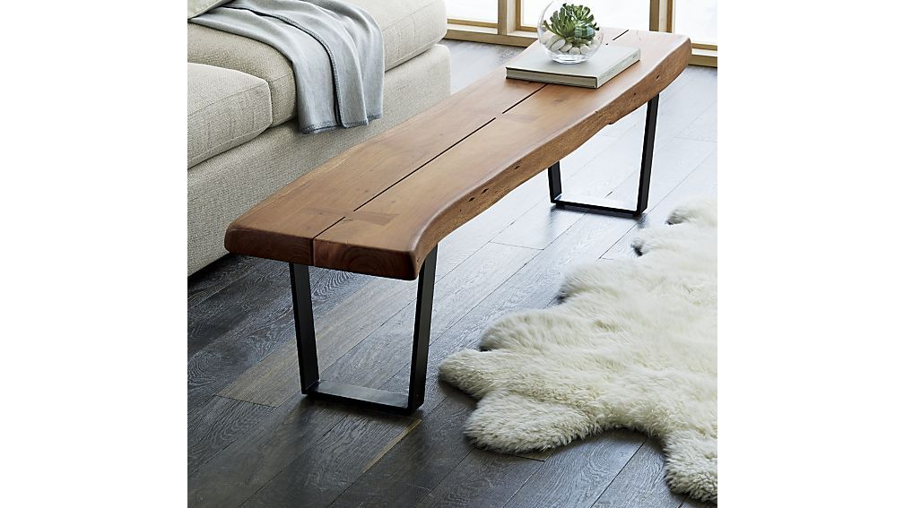Organic Bench That Freshens The Living Room Or Entryway With A Hint Of Great Outdoors Large Rustic Doubles As Coffee Table