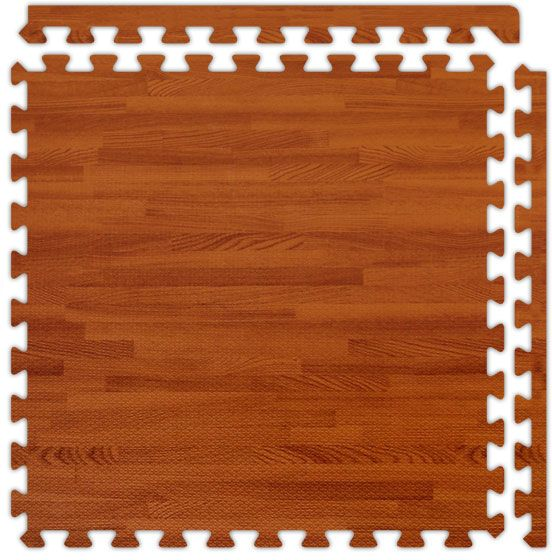 Red Oak Softwood Interlocking Foam Floor Tile Trade Show Flooring