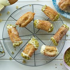 Pistachio and white chocolate churros