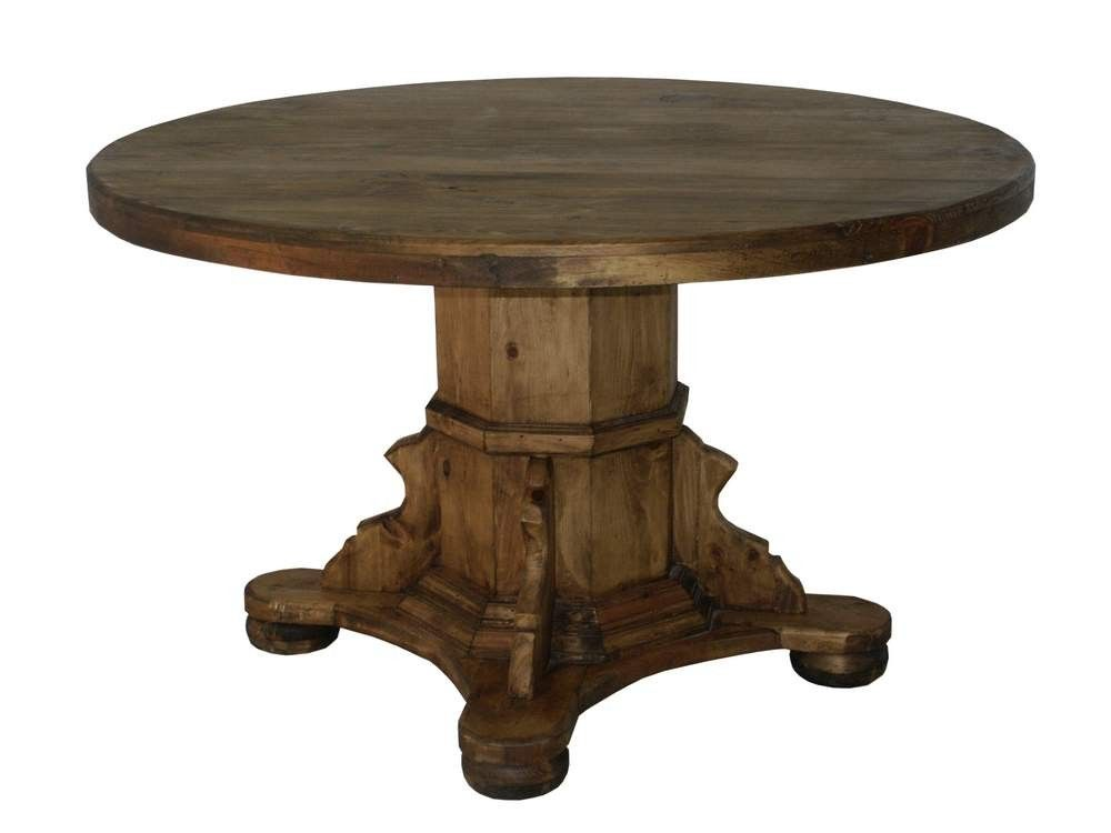 High Quality Ixtapa Rustic Round Wood Table | Rustic Pine Furniture Made In Mexico