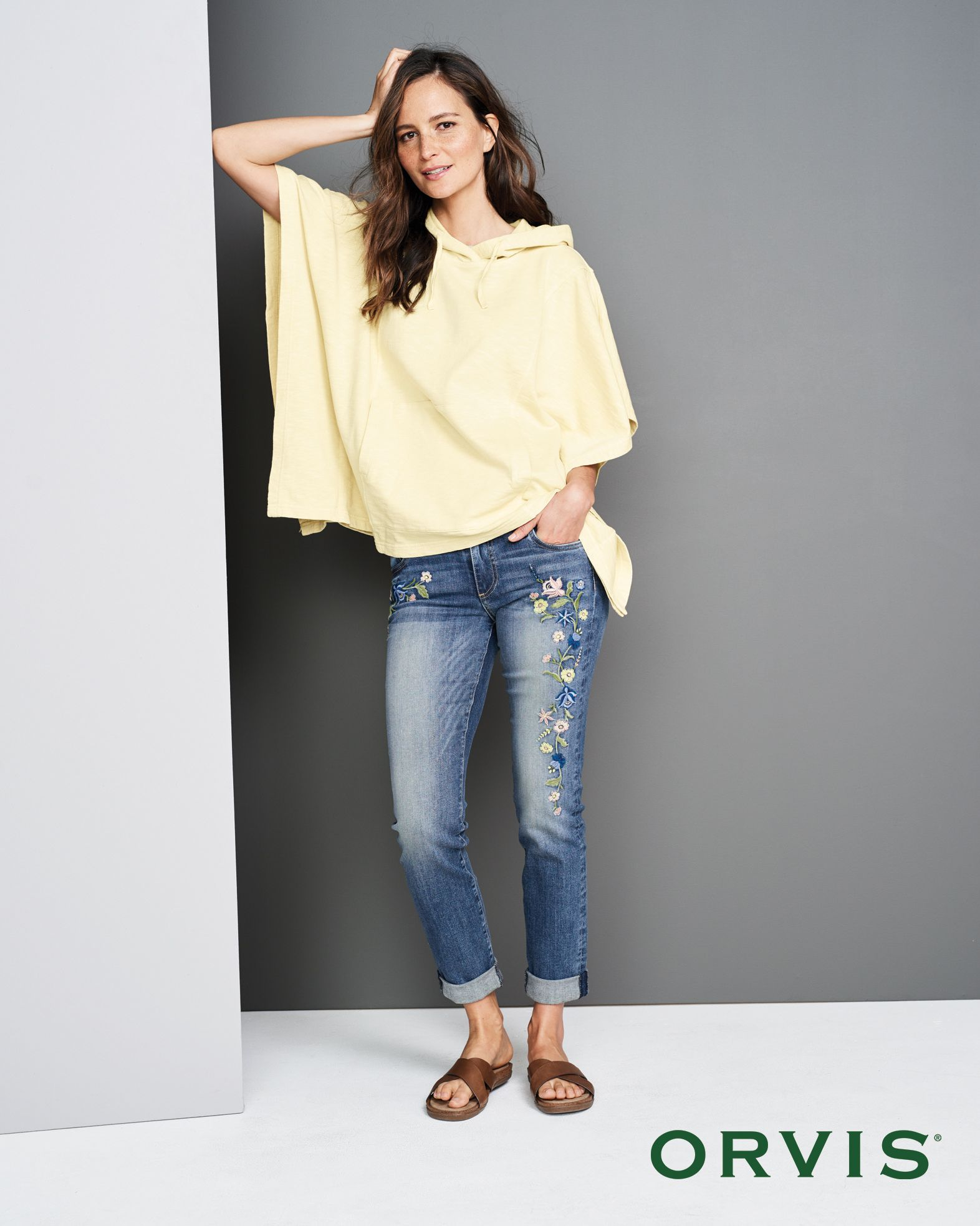 fbcbed1523 Sunwashed Poncho Our comfortable Sunwashed Poncho Sweatshirt is as easy as  a relaxing day at the beach.
