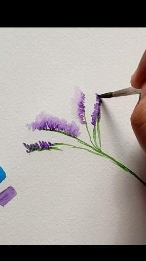 Painting a Statice perfect for your bouquet