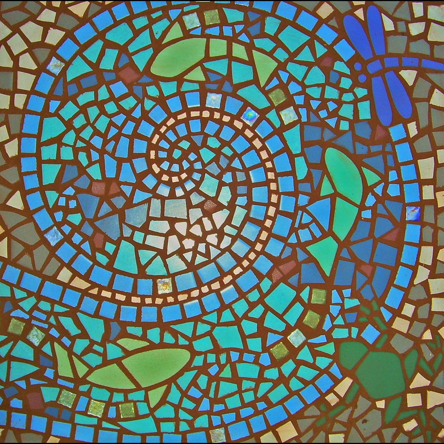 Custom Exterior Mosaic Patio Insert, Comes Assembled And Ready To Install,  2u0027 Square