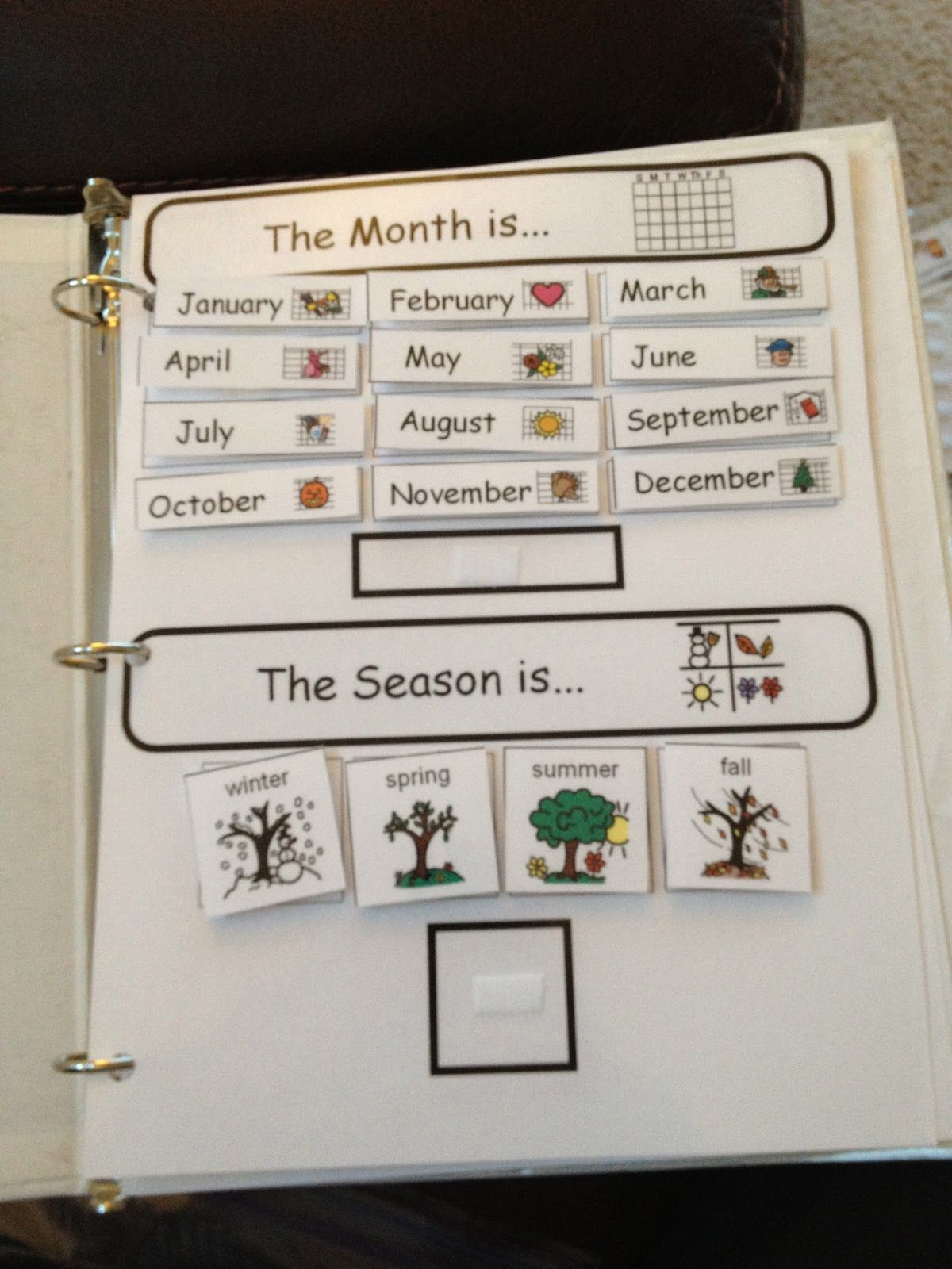From The Autism Tank Homework Binders A Great Visual