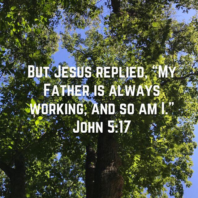 John 5:17 | Scripture quotes, Bible apps, John 5
