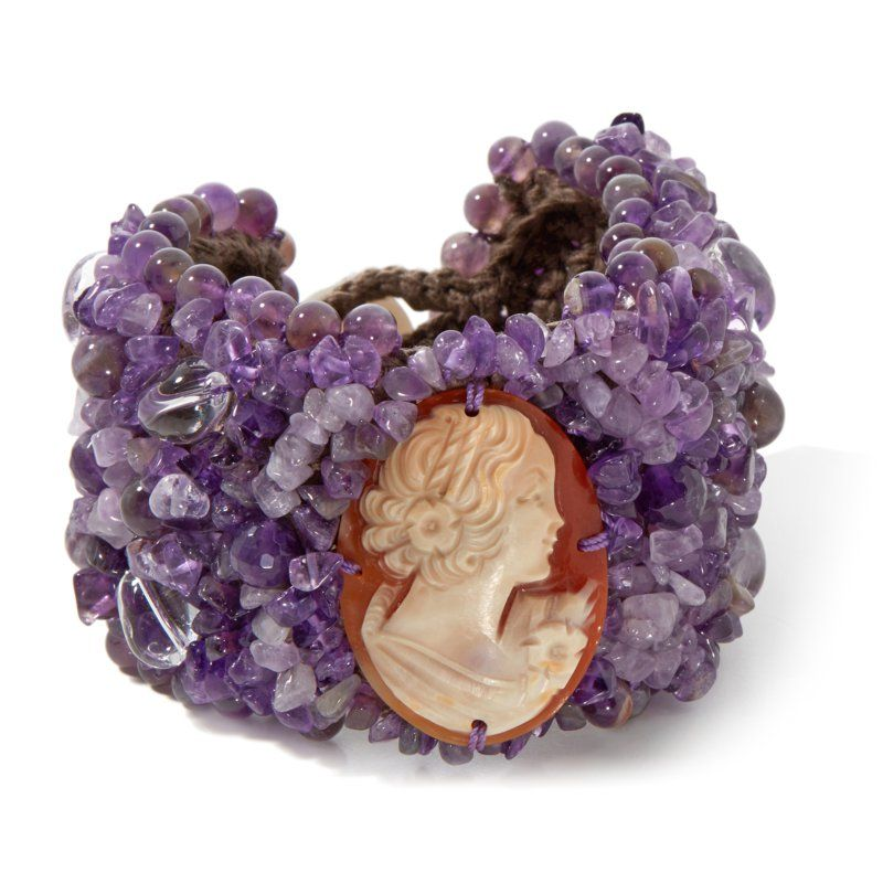 amedeo nyc cameo and amethyst bracelet 229