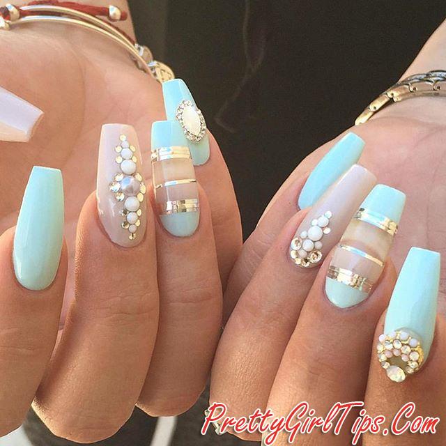 Prettytips Mint Matte Nail Design