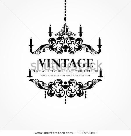 Black chandelier silhouette with candles with place for your text, isolated on white by mcherevan, via Shutterstock