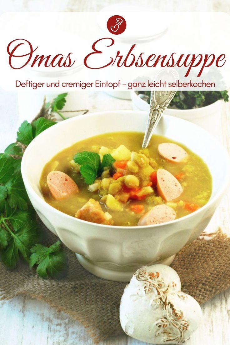 Klassische Erbsensuppe – Rezept für Hausmannskost wie von Oma!