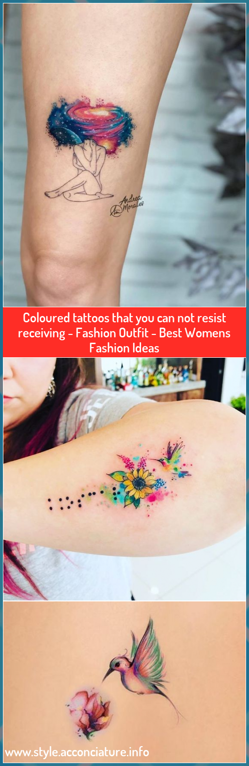 Coloured tattoos that you can not resist receiving - Fashion Outfit - Best Womens Fashion Ideas #Coloured #tattoos #that #you #can #not #resist #receiving #Fashion #Outfit #Best #Womens #Fashion #Ideas