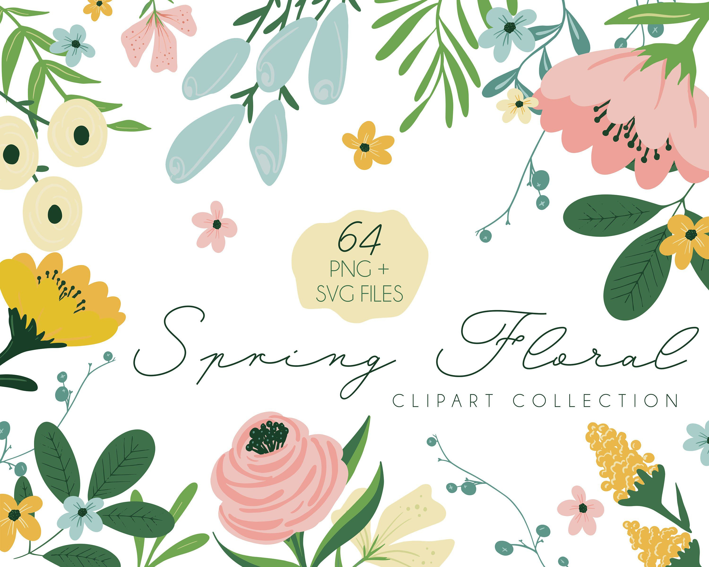 Spring Flower Svg Floral Svg Png Etsy Flower Svg Clip Art Spring Flowers