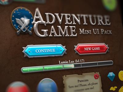 Adventure Game Mini RPG UI Pack [Free PSD]   Game   Game ui