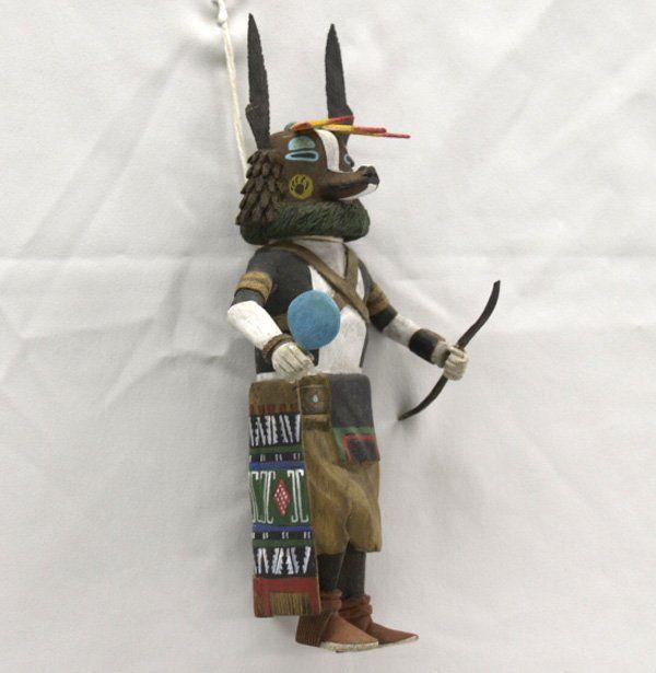 Hopi kachinas | Vintage Hopi Badger Hanging Kachina