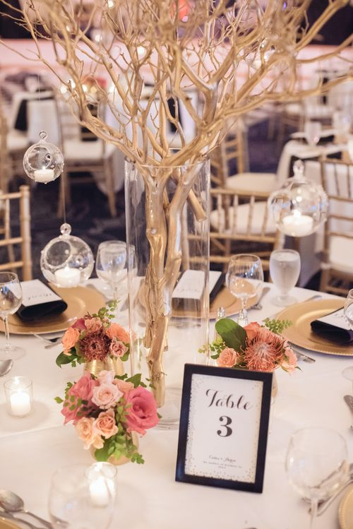 Cassie Aaron Bridal Bliss Branch Centerpieces Wedding Wedding Centerpieces Wedding Floral Centerpieces