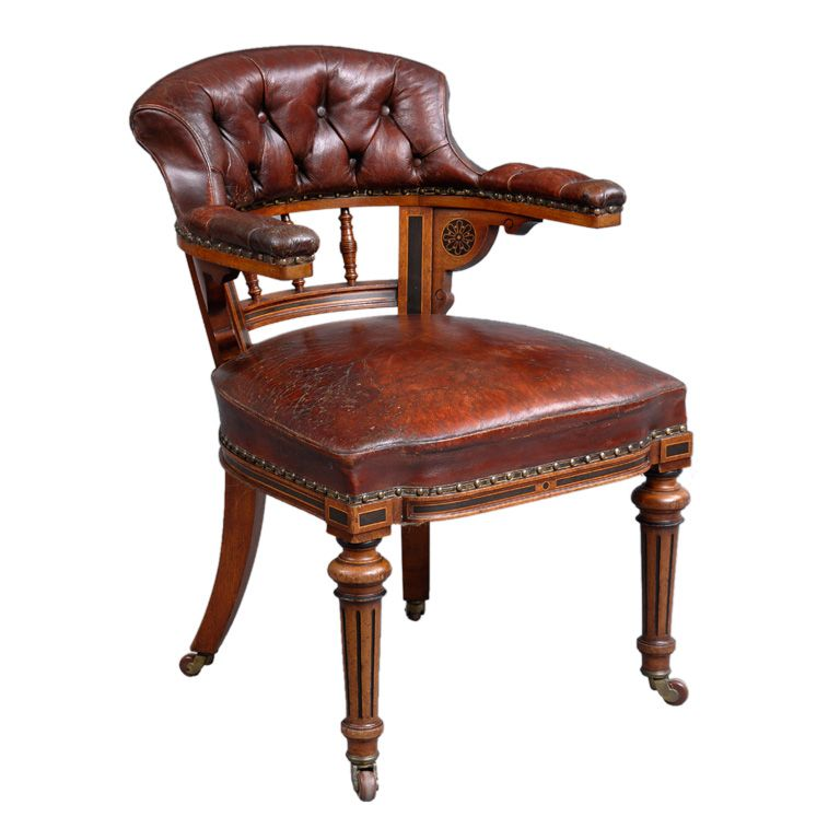 English Victorian Oak Desk Chair | From a unique collection of antique and  modern office chairs - English Victorian Oak Desk Chair In 2018 I *******LOVE