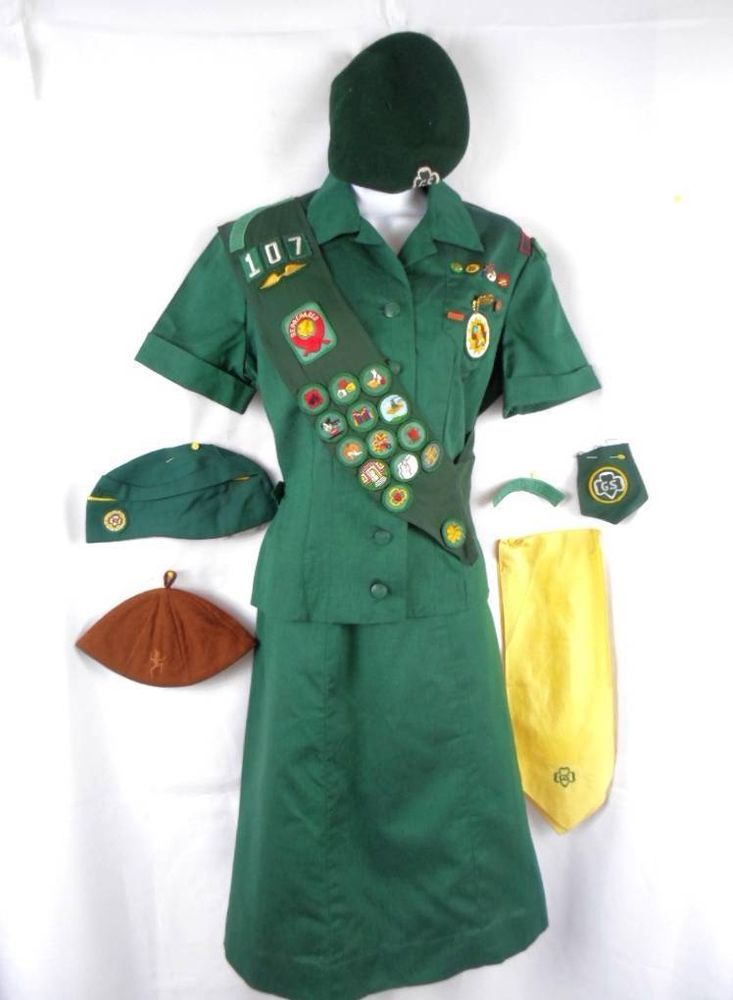 Girl Scout letters bar//pin   Early Uniform Pin GS