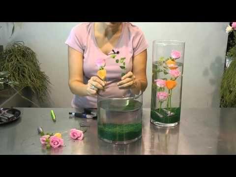 Centro de mesa horizontal - YouTube Estructuras para arreglos de - centros de mesa para boda con velas flotantes