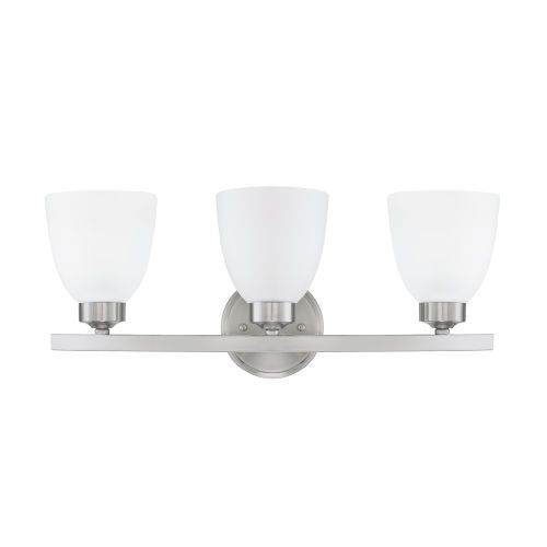 Photo of Capital Lighting Fixture Company 114331BN-333 HomePlace Jameson 21 in. Three-light vanity made of brushed nickel – brushed, traditional
