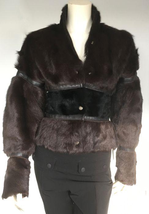 b533e5a26e2e Roberto Cavalli- bontjasje met leer. Schitterend jasje van Roberto Cavalli  schitterend afgewerkt met leer
