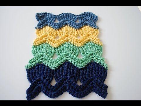 How to Crochet the Vintage Fan Ripple Stitchl: Beginner Friendly ...