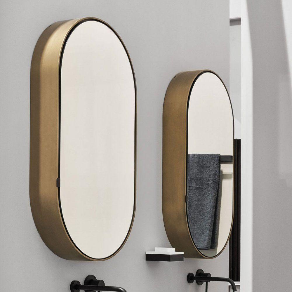 I Cantini Oval Box Mirror In 2020 Oval Mirror Bathroom Bathroom Mirror Cabinet Mirror