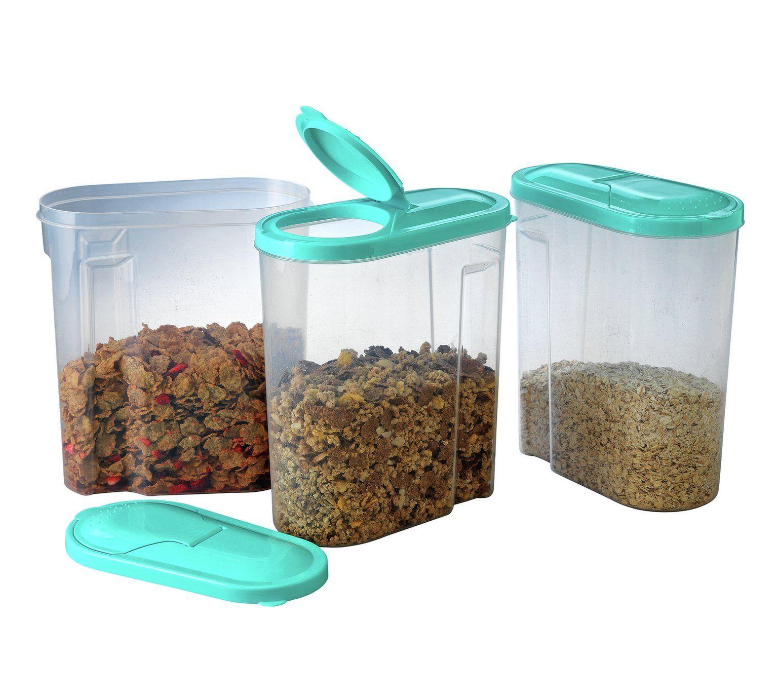 Buy Argos Home 5 Litre Cereal Dispenser Set Of 3 Food Storage