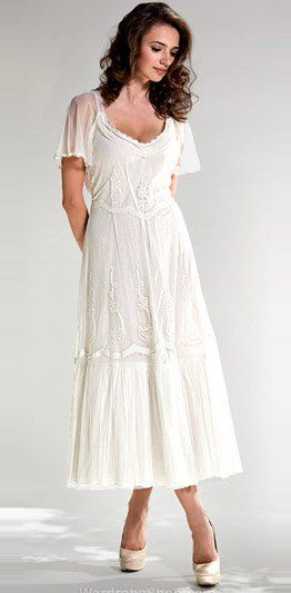 Vintage Style Wedding Dresses Tea Length Re Re ... | renewing our ...