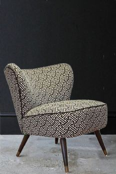 Upcycled 1950s Bartholomew Cocktail Chair - Lattice