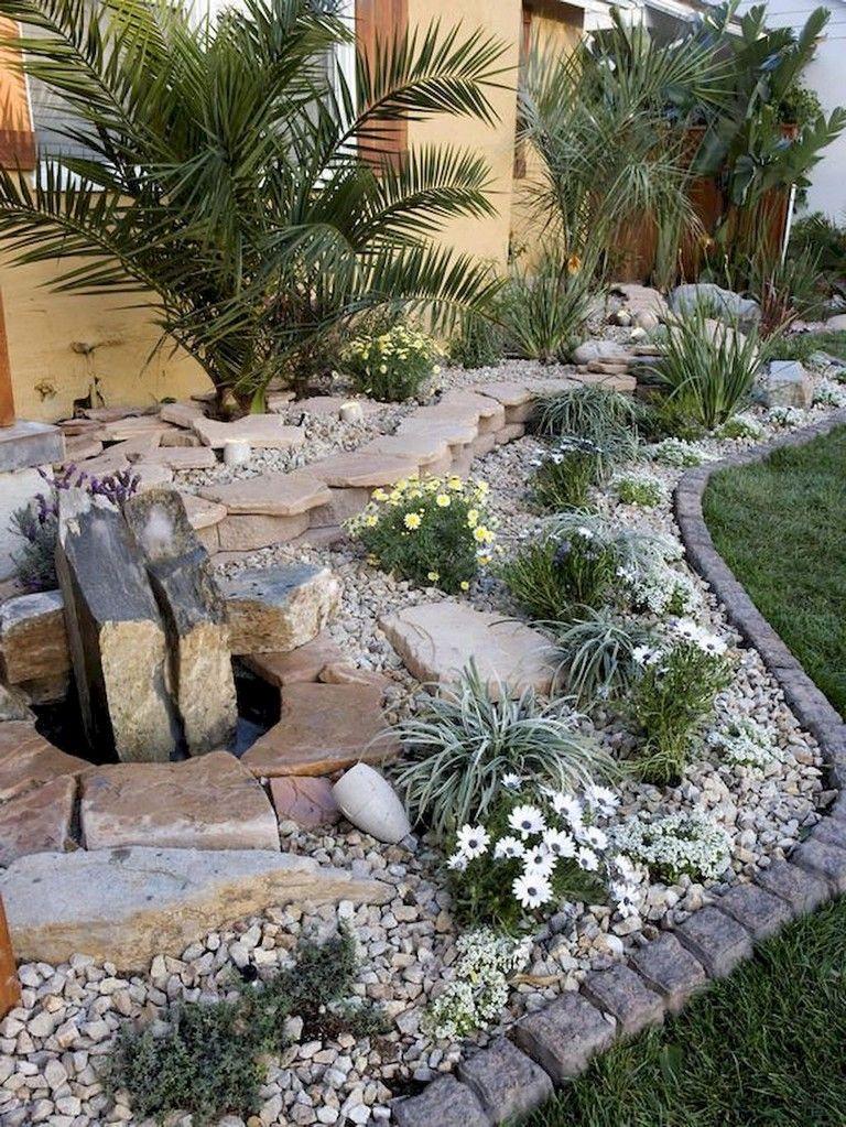 72 Beauty Front Yard Rock Garden Landscaping Ideas Rock Garden