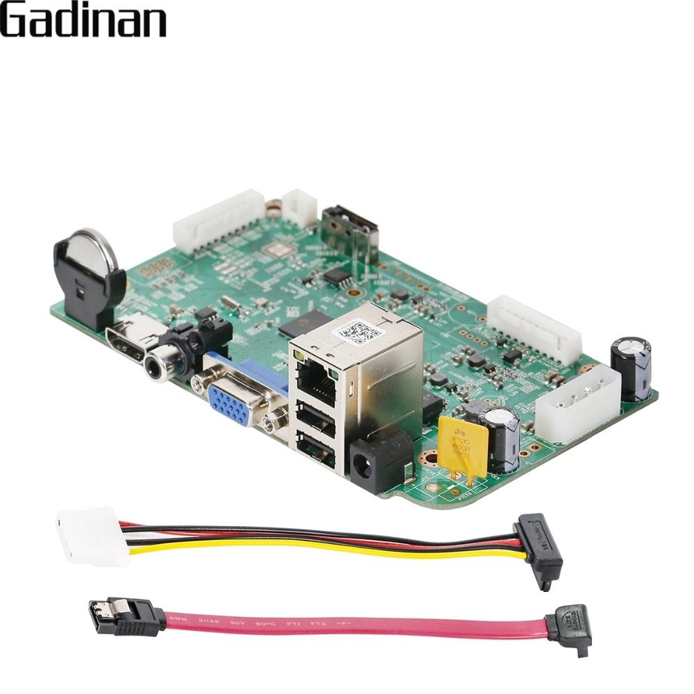 GADINAN 16CH 5MP 15fps / 8CH 5MP H 265 CCTV NVR Main Board ONVIF