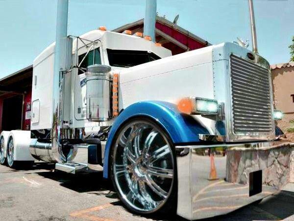 Wow Thats Some Big A Wheels Big Rig Trucks Peterbilt Trucks