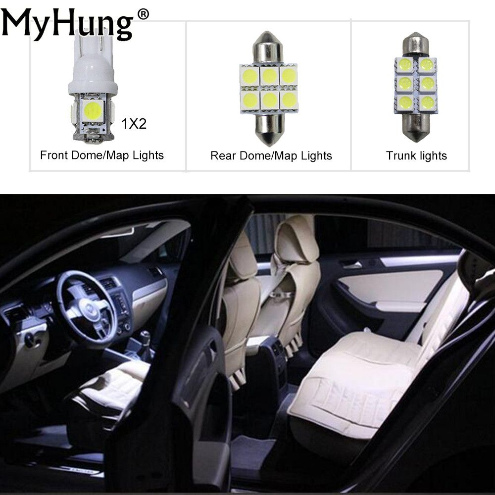 4X 12V 9LED Car Vehicle Interior Roof Ceiling Dome Lamp Home Caravan Round Light