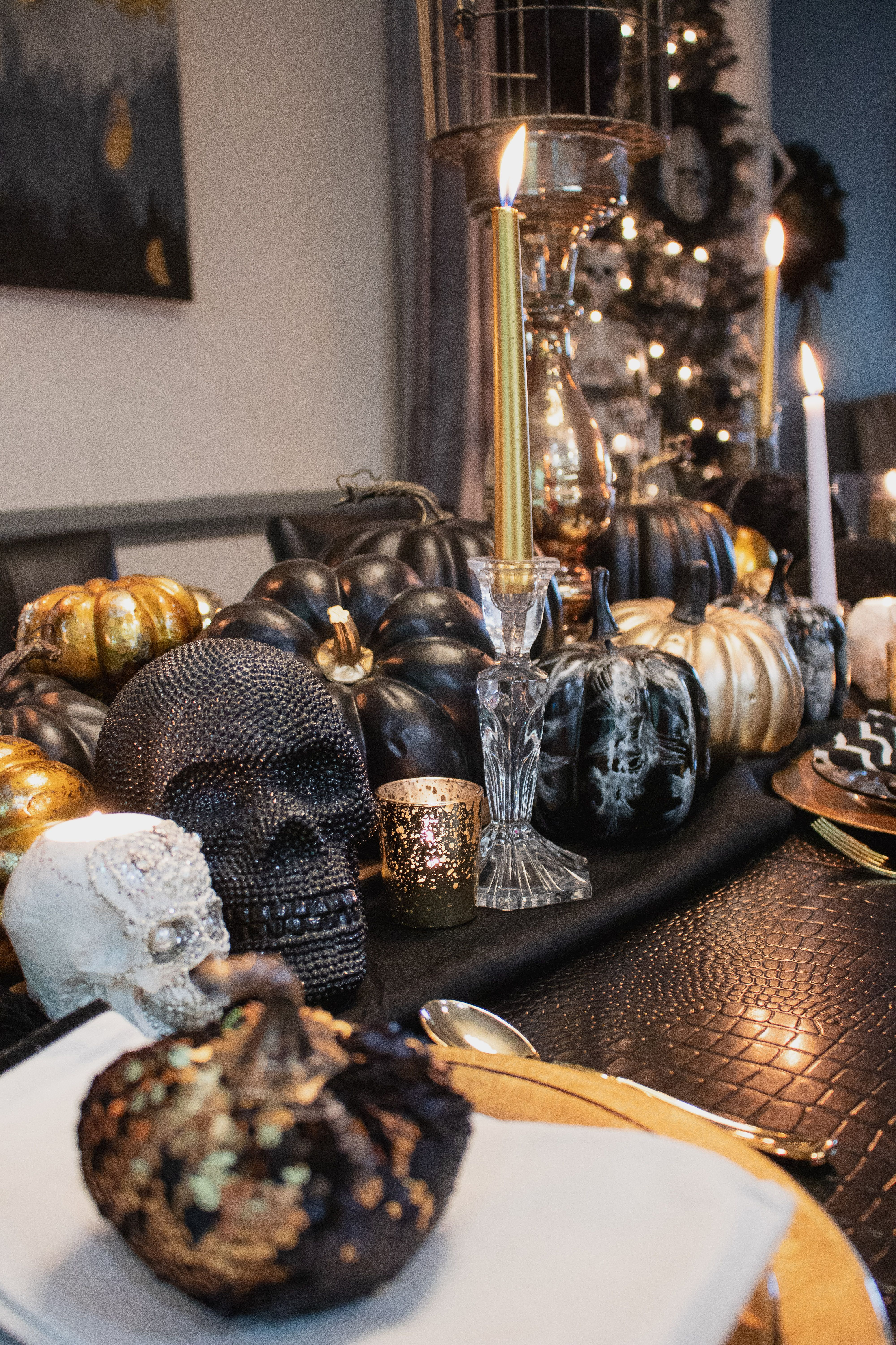 Black And Gold Halloween Decor Pictureplacemeant With Images