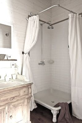 Check Out The Base Of That Shower. Looks Like An Old Cast Iron Tub.