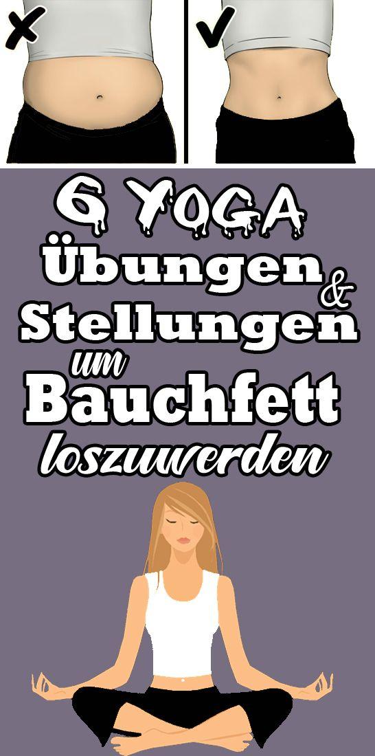 6 Yoga Übungen und Stellungen, um Bauchfett loszuwerden #pilatesyoga