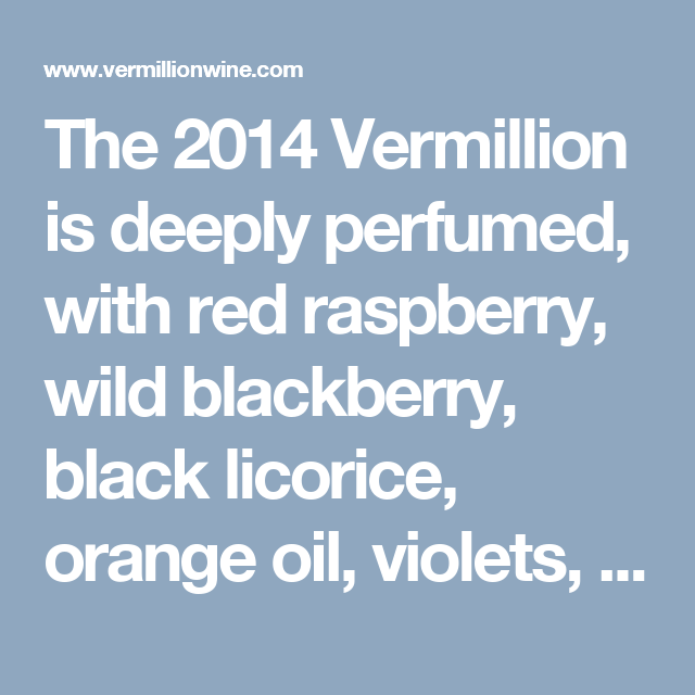 $35 Vermillion Wine Bottle